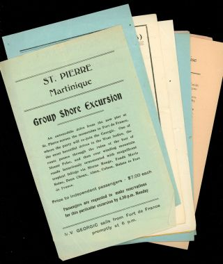Lot of Menus, Passenger List, Cruise Periodical, and Other Items from a Cruise Aboard the Cunard-White Star M.V. Georgic to the West Indies, 1936