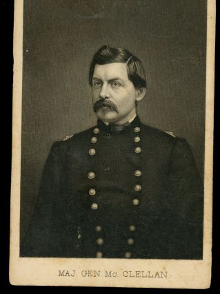 Trade Card Featuring Major General George B. McClellan