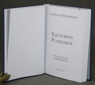 Equatorio de Pianeti/ Equatorium Planetarum, Complete in Two Volumes