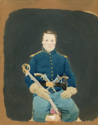 Handpainted Portrait of a Union Soldier