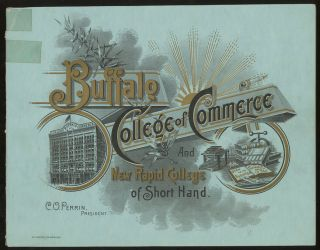 Annual Catalogue of the College of Commerce, New Rapid College...
