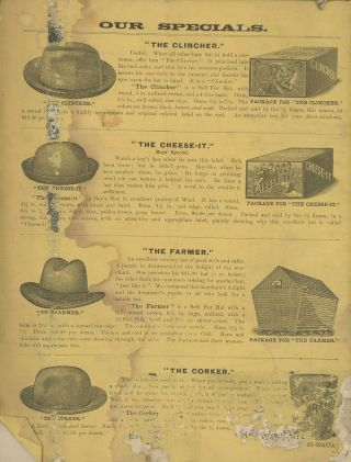 Hill's Hat Journal, Spring and Summer Styles, 1890