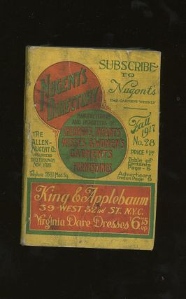 Nugent's Directory, Manufacturers and Importers of Children's, Infant's, Misses and...