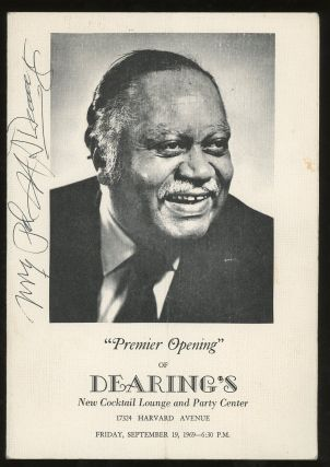 """Premier Opening"" of Dearing's New Cocktail Lounge and Party Center..."