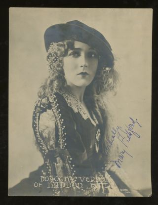 Signed Photograph of Mary Pickford in Dorothy Vernon of Haddon...