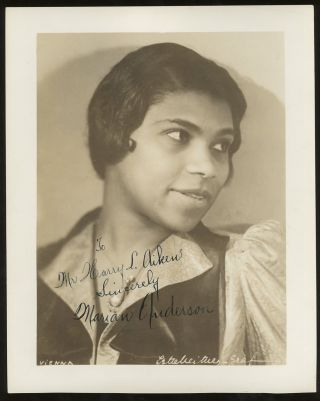 Inscribed Photograph of Marian Anderson