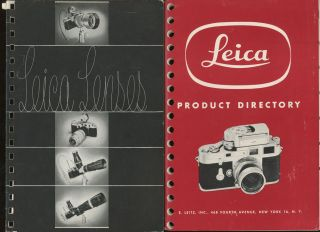 Group of Camera Catalogs and Periodicals, Including 2 Leica, 3 Leitz, 3 Issues of the Defender...