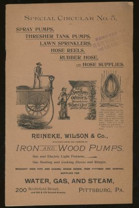 Reineke, Wilson, & Co. Manufacturers and Jobbers of Iron and Wood Pumps, Gas and Electric Light...