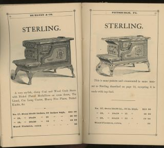 Keystone Stove Works, Catalogue and Price List of De Haven & Co., Manufacturers of Portable Ranges, Cooking, Parlor, and Heating Stoves, Grate Fronts, Sugar Kettles, &c. August, 1881