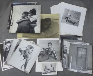 Collection of Original Photographs by Hans Beacham, Including Portraits of Boyfriends, Self...