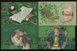 Group of 15 Ireland and Irish Themed Postcards. Raphael Tuck, Lawrence Sons, Valentine and Sons,...