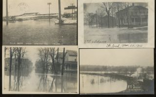 10 Post Cards of Wabash Indiana, Including Views of the 1913 Wabash Flood