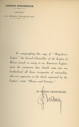 Napoleon's Legion, Signed by General Yvon Dubail