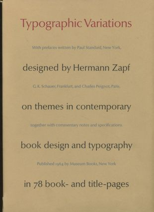 Typographic Variations Designed by Hermann Zapf, On Themes In Contemporary...