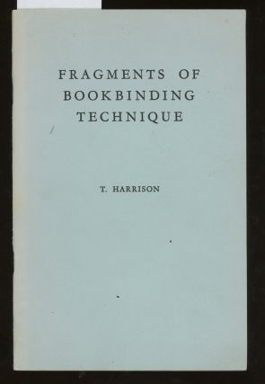 Fragments of Bookbinding Technique