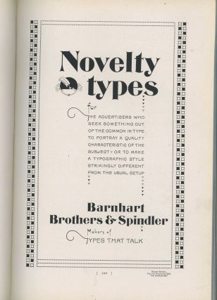 Barnhart Brothers and Spindler Catalog 25-A, Type Faces, Border Designs...
