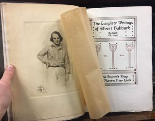 The Complete Writings of Elbert Hubbard, Author's Edition, Signed by Elbert Hubbard, With Two Manuscript Pages, Complete in Twenty Volumes