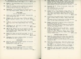 Belfast Before 1820, A Bibliography of Printed Material