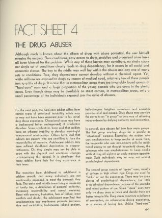 Fact Sheets, Bureau of Narcotics and Dangerous Drugs