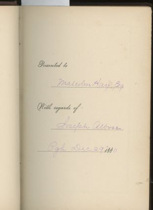Things of the Kingdom, A Series of Essays, Presentation Copy Signed to Judge Malcolm Hay from Albree's son Joseph
