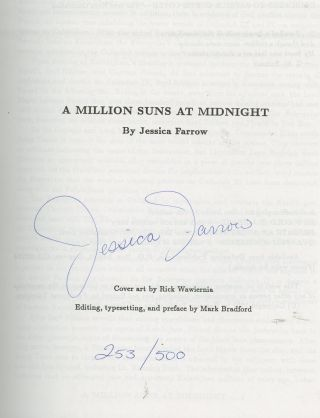 A Million Suns at Midnight, SIGNED by Jessica Farrow (Star Trek: The Next Generation Fanfiction)....