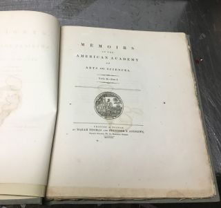 Memoirs of the American Academy of Arts and Sciences, Volume II- Part I (This Volume ONLY)