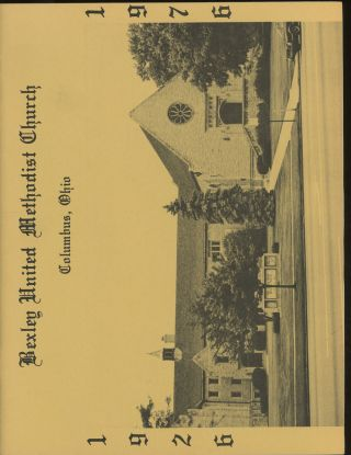 1976 Directory for Bexley United Methodist Church, Columbus, Ohio. Bexley United Methodist Church