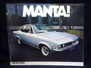 Manta! The 1973 Opels (Luxus, Rallye, GT, Wagon, 1900 Sedans)...
