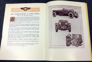 Bentley: The World's Finest Sporting Car. Catalogue No. 30, September 1929