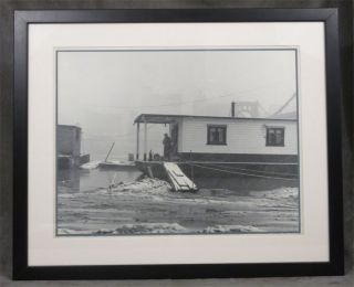 """""""Nasty Weather"""" Original Signed Photograph of Pittsburgh by O. E. Romig"""