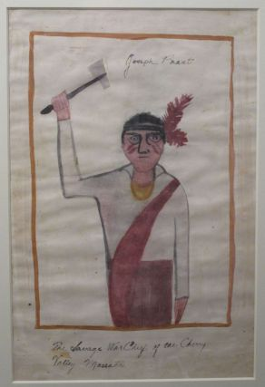 Watercolor Painting : 'Joseph Brant: The Savage War Chief of the Cherry Valley Massacre' [caption...