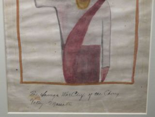 Watercolor Painting : 'Joseph Brant: The Savage War Chief of the Cherry Valley Massacre' [caption title]