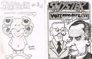 Thirteen Issues of Shyster Magazine, Including Numbers 6 and 26-40
