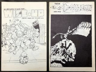 Two Issues of Wise Up, Including Numbers 10 (December 1974) and 12 (May 1975). Larry Becker