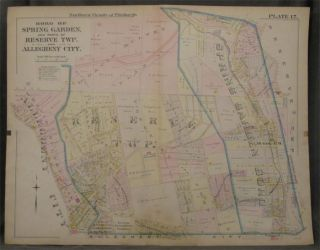 Plat Map of the Northern Vicinity of Pittsburgh: Including the Boro of Spring Garden and Parts of...