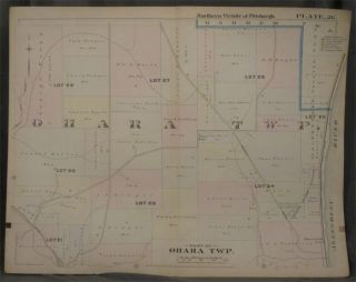 Plat Map of the Northern Vicinity of Pittsburgh, Including Part of O'Hara Township. Pittsburgh...