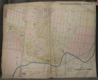 Plat Map of the Northern Vicinity of Pittsburgh, Including Part of Oakmont Boro. Pittsburgh Map,...