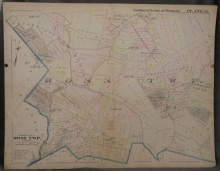 Plat Map of the Northern Vicinity of Pittsburgh, Including Part of Ross Township. Pittsburgh Map,...