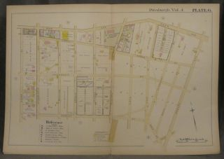 Plat Map of Pittsburgh, Including Parts of Bloomfield and Garfield. Pittsburgh Maps, Garfield,...