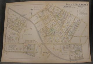 Plat Map of Pittsburgh, Including Parts of Shadyside and Bloomfield. Pittsburgh Maps, Shadyside,...