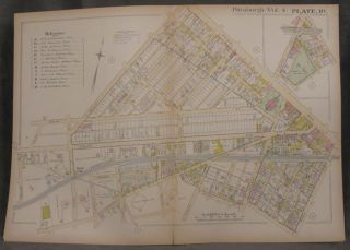 Plat Map of Pittsburgh, Including Parts of Shadyside and East Liberty. Pittsburgh Maps, East...