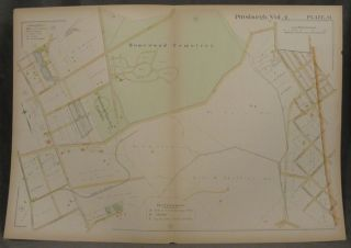 Plat Map of Pittsburgh, Including Parts of Point Breeze, Regent Square, and Squirrel Hill....