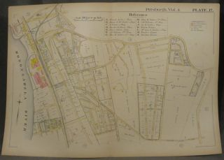 Plat Map of Pittsburgh, Including Parts of Squirrel Hill and Greenfield. Pittsburgh Maps,...