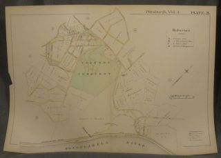 Plat Map of Pittsburgh, Including Parts of Hazelwood and Glen Hazel. Pittsburgh Maps, Glen Hazel,...