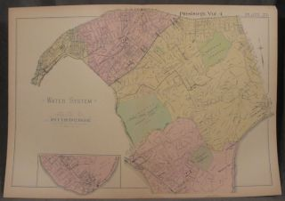 Plat Map of the Water System Beneath the 16th, 20th, 22nd, and 23rd Wards of Pittsburgh....