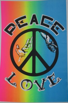 """Peace, Love"" Psychedelica Poster. Peace Counterculture, Poster, Psychedelica"