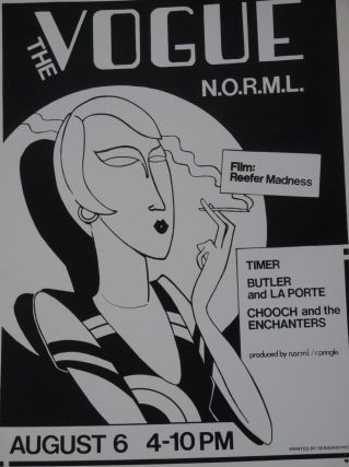 Poster for The Vogue Theater Showing of Reefer Madness, with...