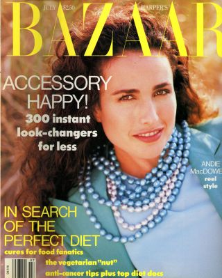 Seven Issues of Harper's Bazaar from 1991, Including February, March, April, May, June, July, and November