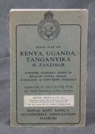 Road Map of Uganda, Tanganyika, and Zanzibar, Showing Adjacent Roads...